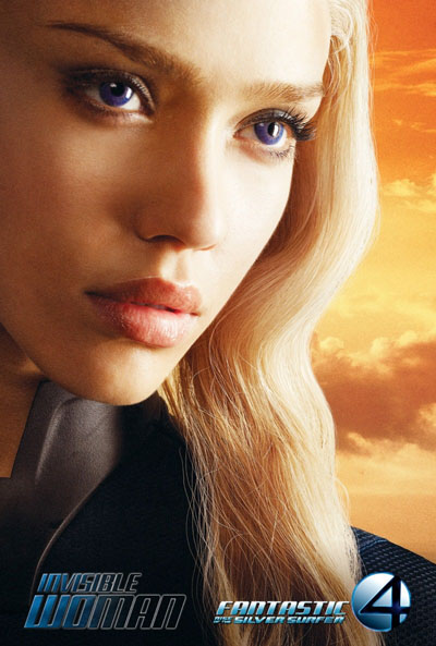 Jessica Alba in Fantastic Four: The Rise of the Silver Surfer